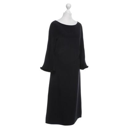 Escada zijden jurk met zwarte nerts