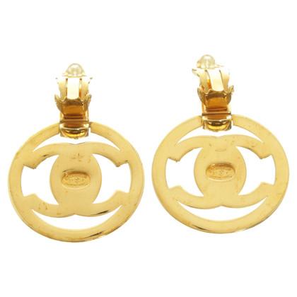 Chanel Chanel logo oorbellen