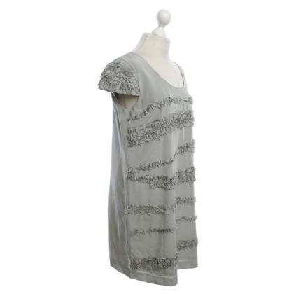 Laurèl Seidenkleid in Grau