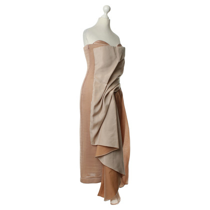 Anne Valerie Hash Bustier dress with draping