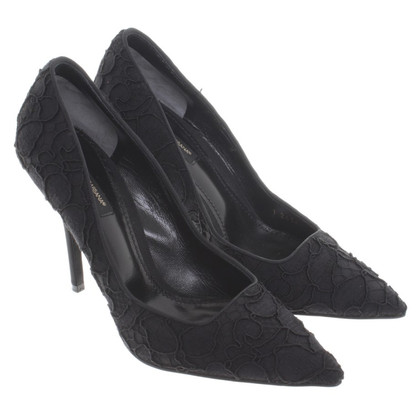 Dolce & Gabbana Black pumps with lace
