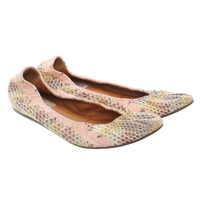 Lanvin Ballerina's slangenhuid