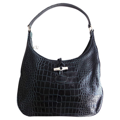 "Longchamp ""Roseau Bag"" en look cuir crocodile"