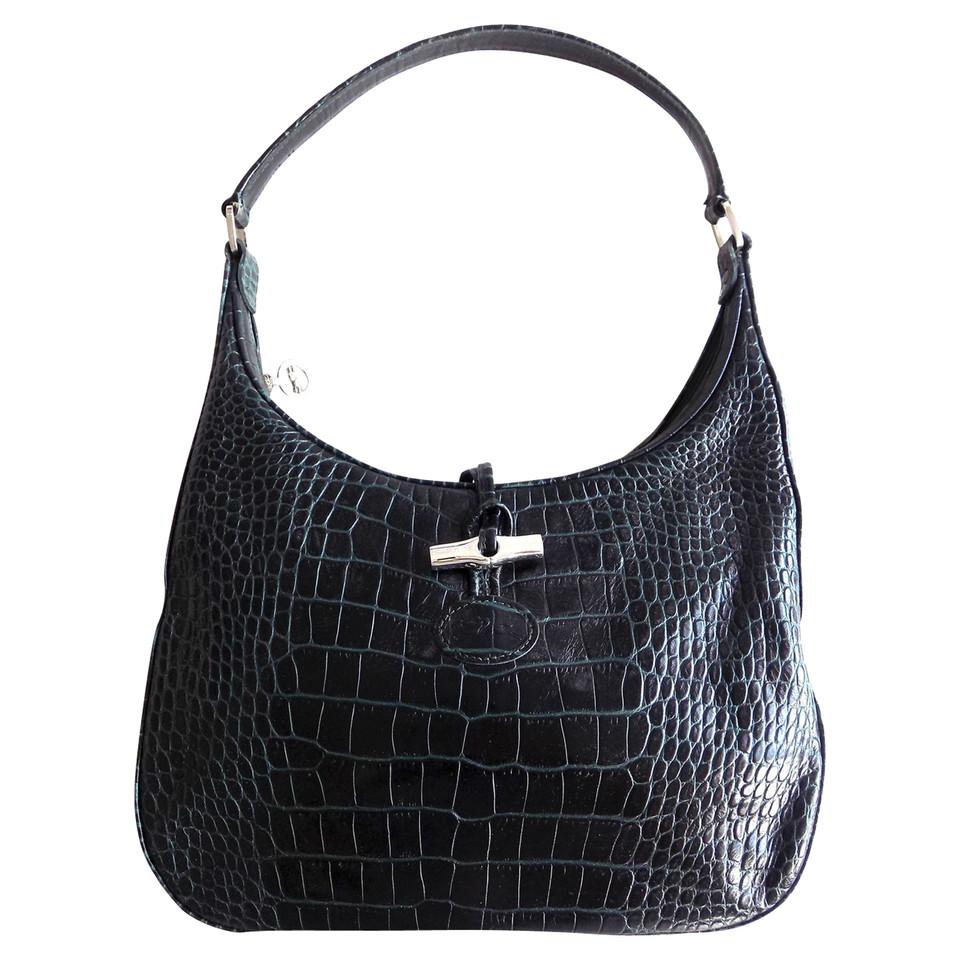 longchamp roseau bag in krokodilleder optik second. Black Bedroom Furniture Sets. Home Design Ideas