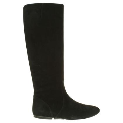 Hogan Suede boots in black