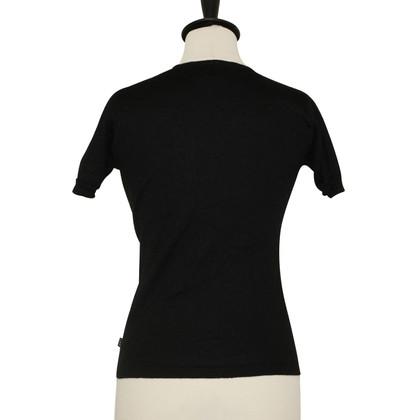Versace pullover nero con lurex