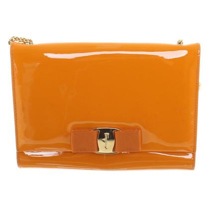 Salvatore Ferragamo Clutch in Orange