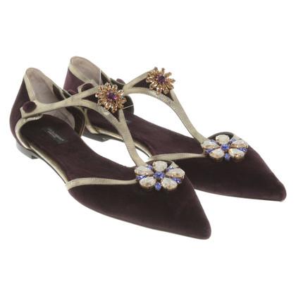 Dolce & Gabbana Slipper mit Schmucksteinen