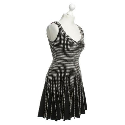 Alaïa Kleid in Schwarz/Weiß