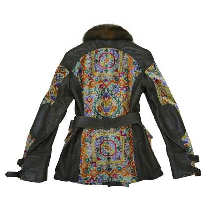 Etro La giacca di pelle di aspetto etnico