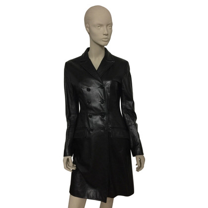 Dolce & Gabbana Black leather coat