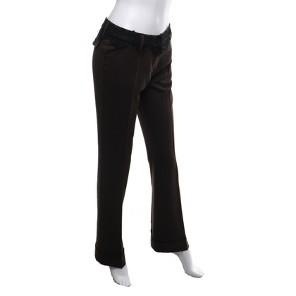 Parosh trousers with pinstripe
