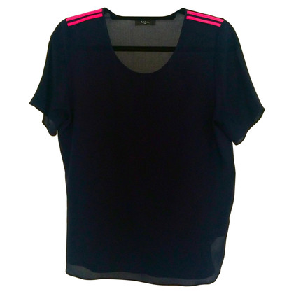 Paul Smith Navy Blue Silk Top