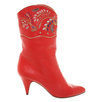 Casadei Red boots in Western-style