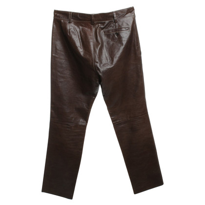 Miu Miu Leather pants in brown