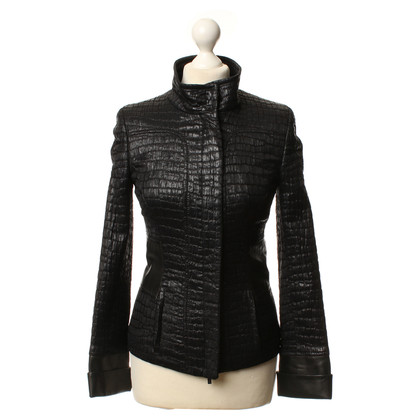 Aigner Short jacket with reptile tree