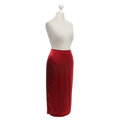By Malene Birger Shimmering pencil skirt in red