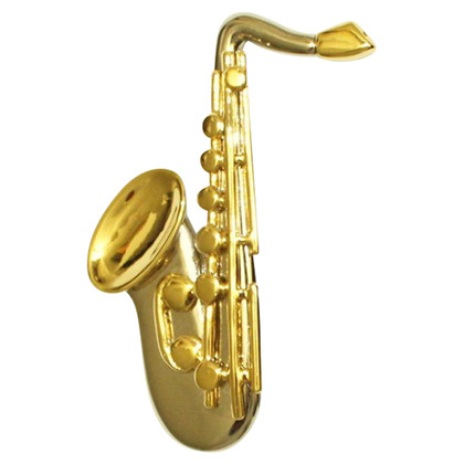 Yves Saint Laurent Saxophone music brooch