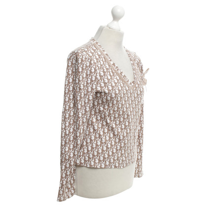 Christian Dior top in brown / white