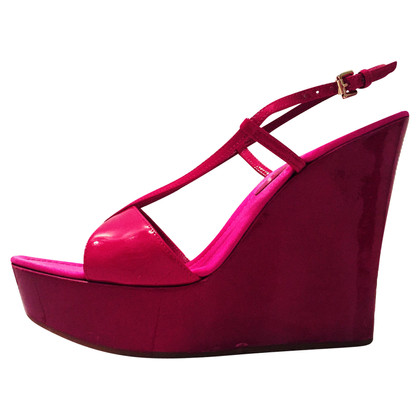 Gianvito Rossi Lackleder-Wedges