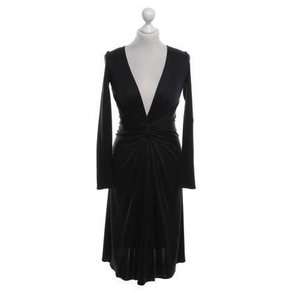 Issa Seiden-Kleid in Schwarz