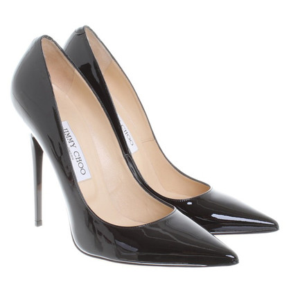 Jimmy Choo Lackleder-pumps in black