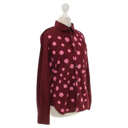 Comme des Garçons for H&M Burgundy shirt blouse