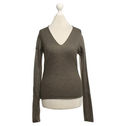 Donna Karan maglione maglia in oliva