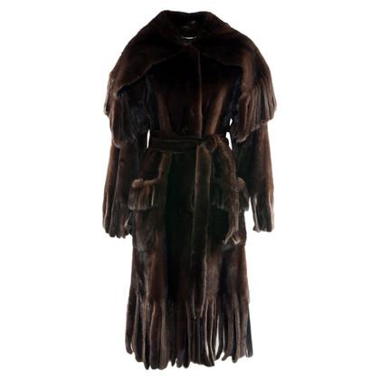 Dolce & Gabbana Cappotto di pelliccia di visone
