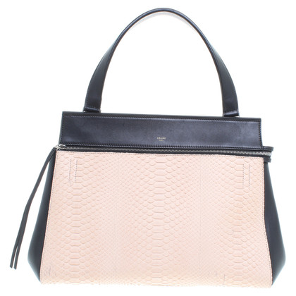 "Céline ""Edge bag"" with reptile leather insert"