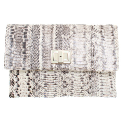 Anya Hindmarch clutch slangenhuid