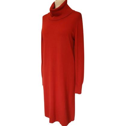 Max Mara Gebreide jurk in rood