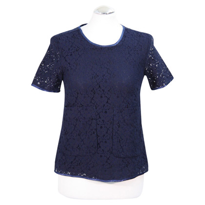 French Connection Lace Top in donkerblauw