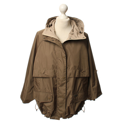 Woolrich Poncho impermeabile in verde oliva