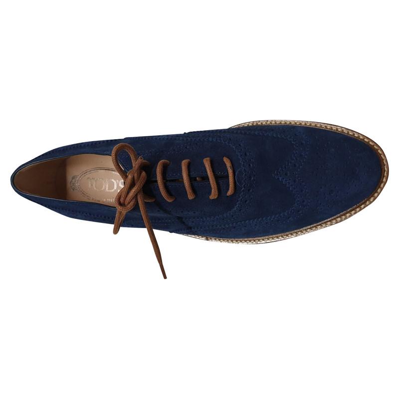 Daim Bleu Acheter Tod's Lacets En Chaussures À CeQWrBdxo