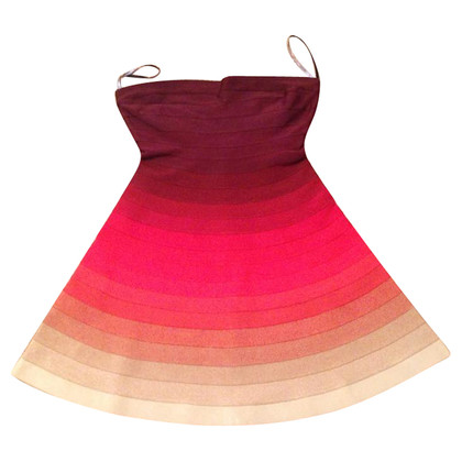 Herve Leger Strapless Ombre Dress