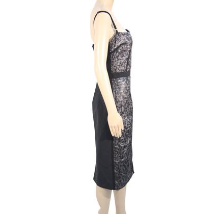 Dolce & Gabbana zijden jurk in zwart