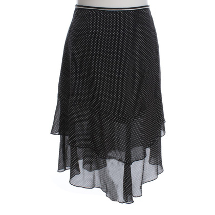Marc Cain Silk skirt with dot pattern
