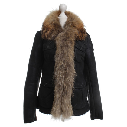 Other Designer Para jumper - leather jacket with fur collar