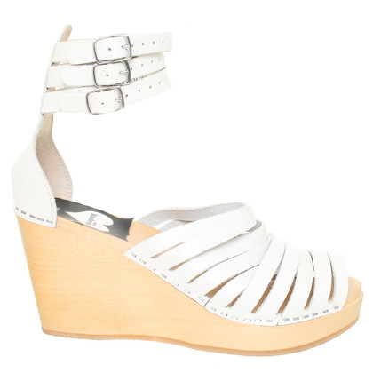 Swedish Hasbeens for H&M Witte sandalen