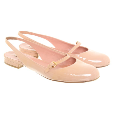 343599153f5 Miu Miu Slippers Ballerinas Patent leather in Nude