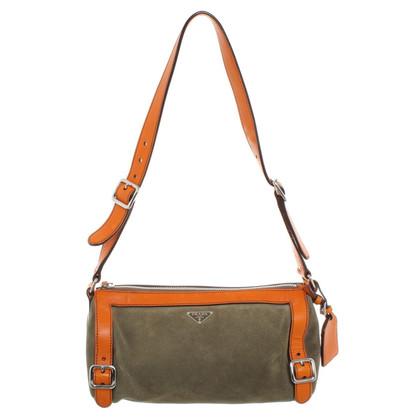 Prada Vintage Tasche in Orange/Grün