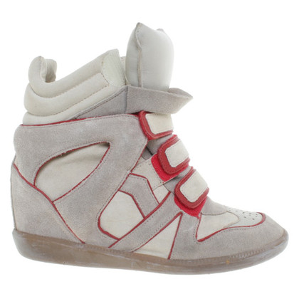 Isabel Marant Sneakerwedges beige/Red