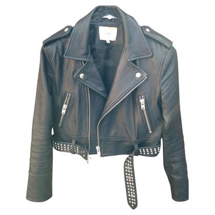Iro Iro Zekine leather biker jacket
