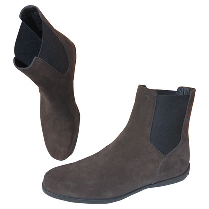 Tod's Suede ankle boots in dark brown