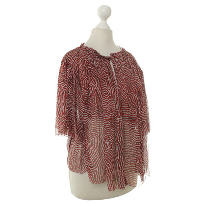 Isabel Marant Lace blouse in red