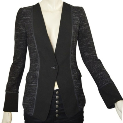 BCBG Max Azria Zwarte Bouclé jas, Gr. XS