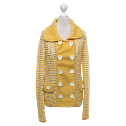 Escada Cardigan in yellow / white