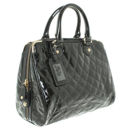 Bally borsa della pelle verniciata in nero