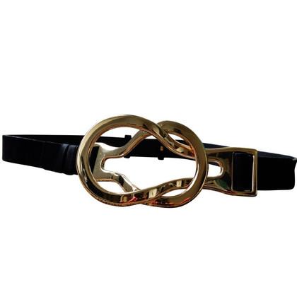 Valentino Garter belt with gold buckle